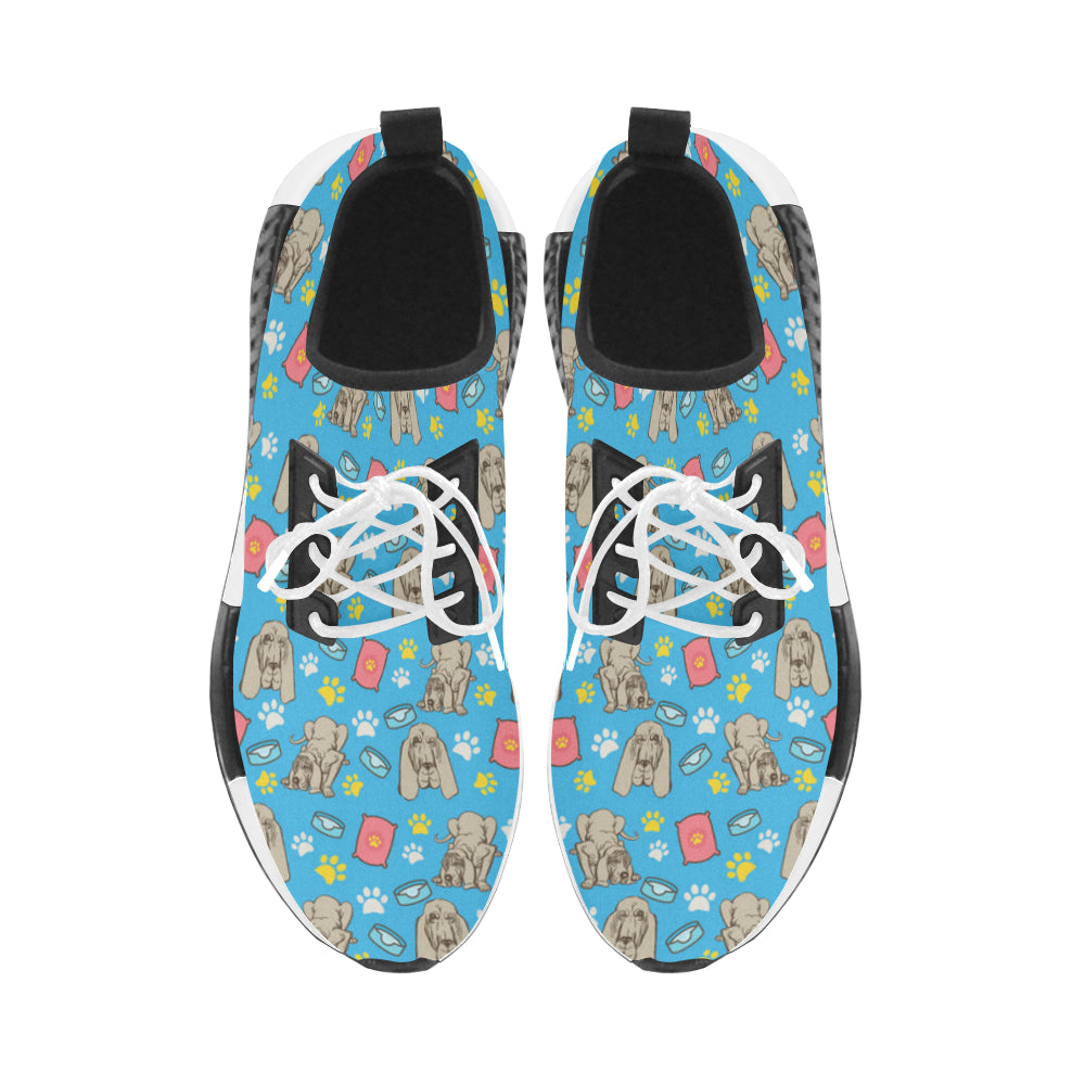 Bloodhound Pattern Women's Draco Running Shoes - TeeAmazing