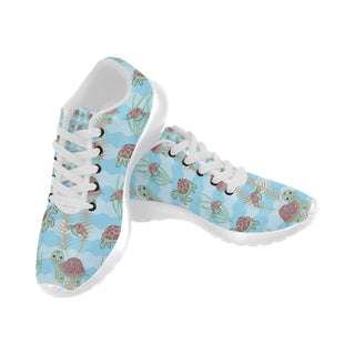Turtle White Sneakers for Women - TeeAmazing