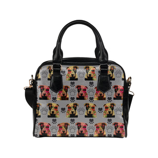 Pit Bull Pop Art Pattern No.1 Shoulder Handbag - TeeAmazing