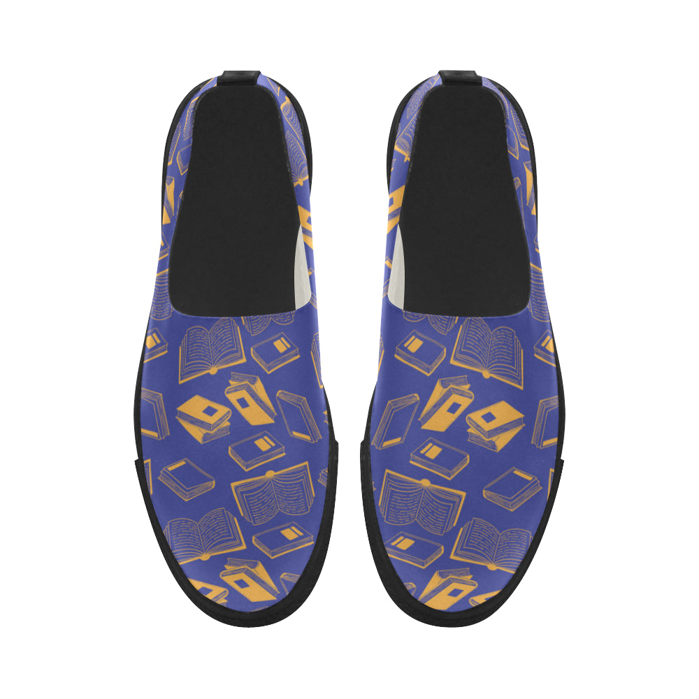 Book Pattern Apus Slip-on Microfiber Women's Shoes - TeeAmazing