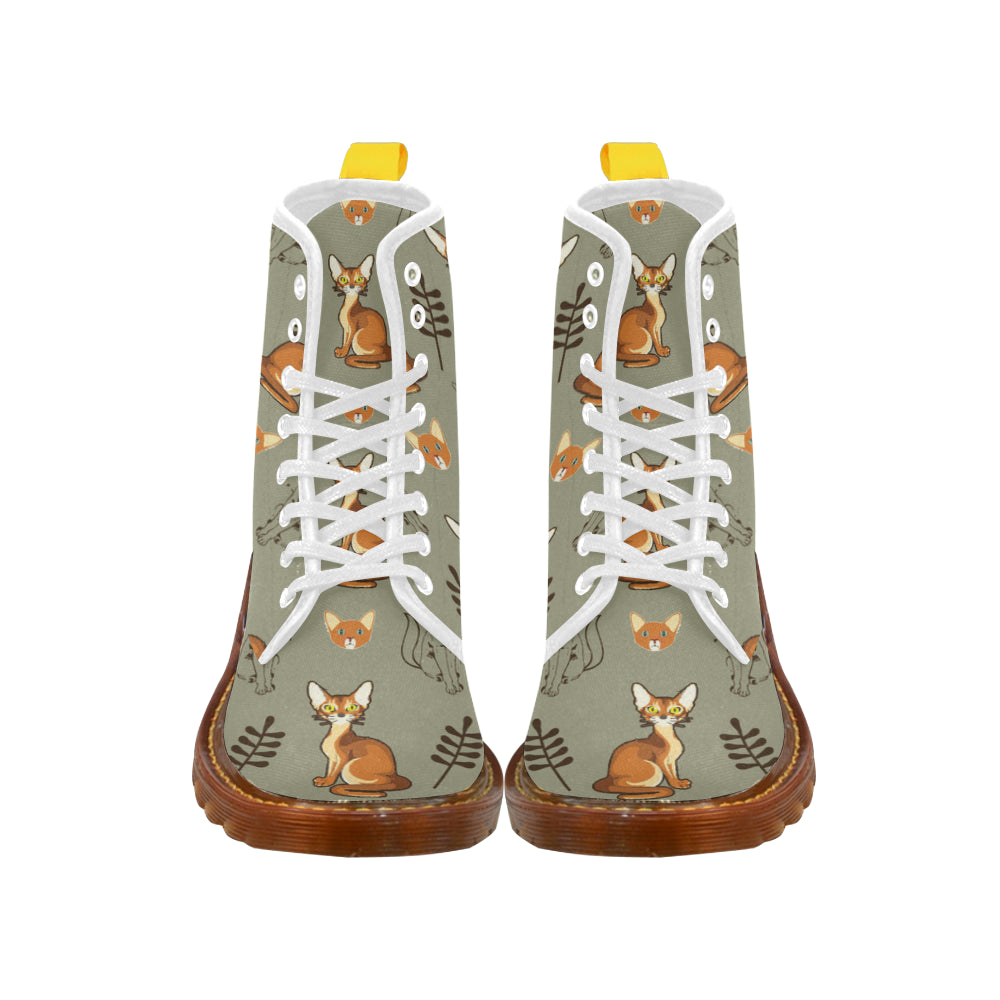 Abyssinian White Martin Boots For Women Model 1203H - TeeAmazing