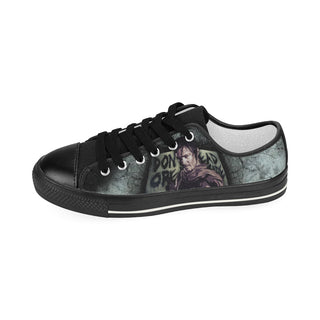Daryl Dixon (Don't Open - Dead Inside) Black Women's Classic Canvas Shoes - TeeAmazing