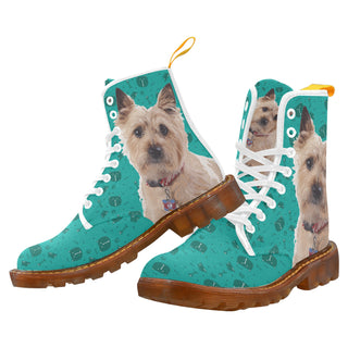 Cairn terrier White Martin Boots For Women Model 1203H - TeeAmazing