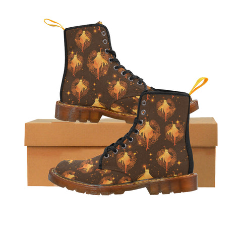 Sailor Venus Black Martin Boots For Women - TeeAmazing