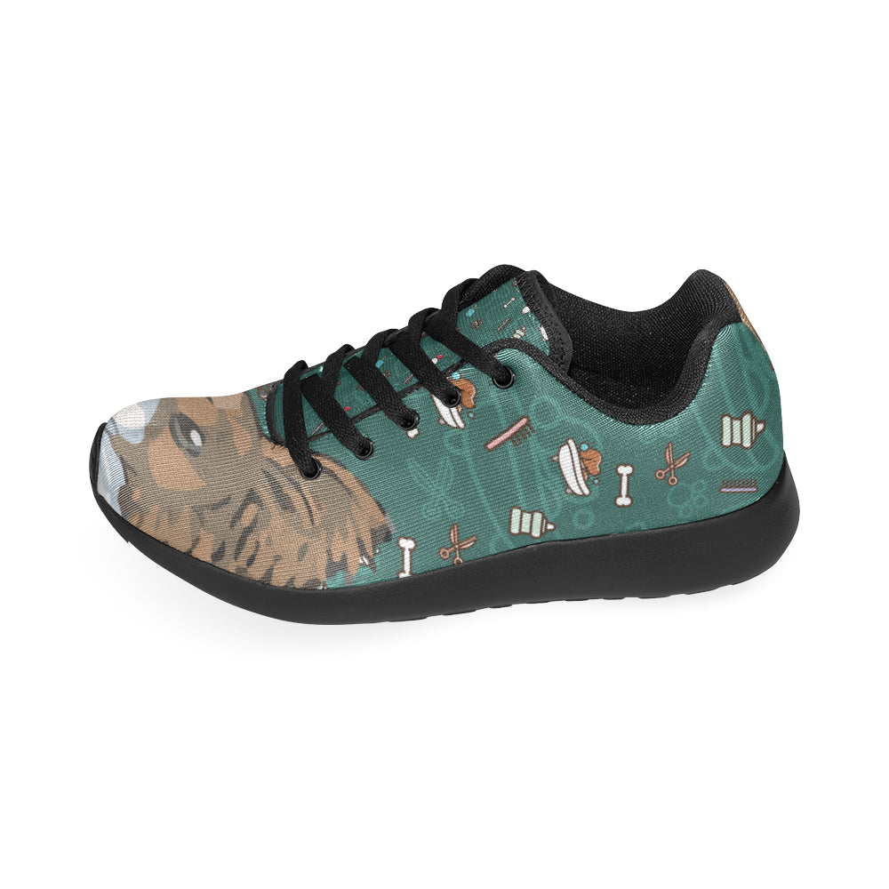 Papillon Dog Black Sneakers for Women - TeeAmazing