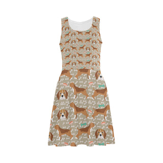 Beagle Pattern Atalanta Sundress (Model D04) - TeeAmazing