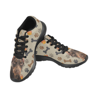 Doberman Dog Black Sneakers for Men - TeeAmazing