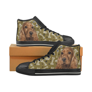 Cocker Spaniel Dog Black Men's Classic High Top Canvas Shoes - TeeAmazing