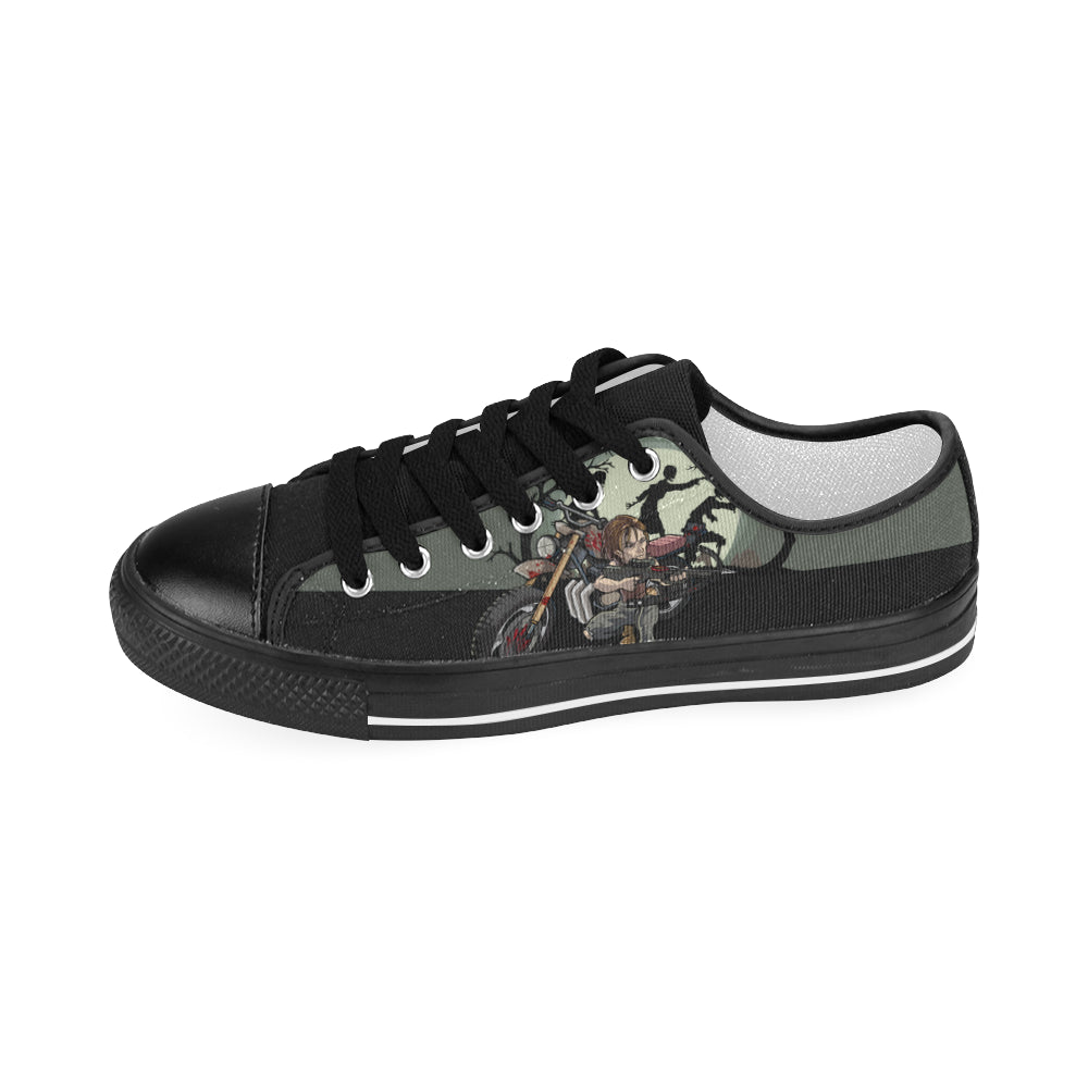 Daryl Dixon Black Men's Classic Canvas Shoes - TeeAmazing