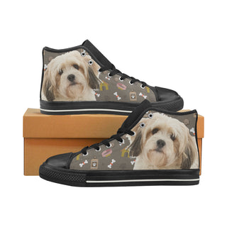 Cavachon Dog Black Women's Classic High Top Canvas Shoes (Model 017) - TeeAmazing
