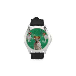 Jack Russell Terrier Lover Women's Classic Leather Strap Watch - TeeAmazing