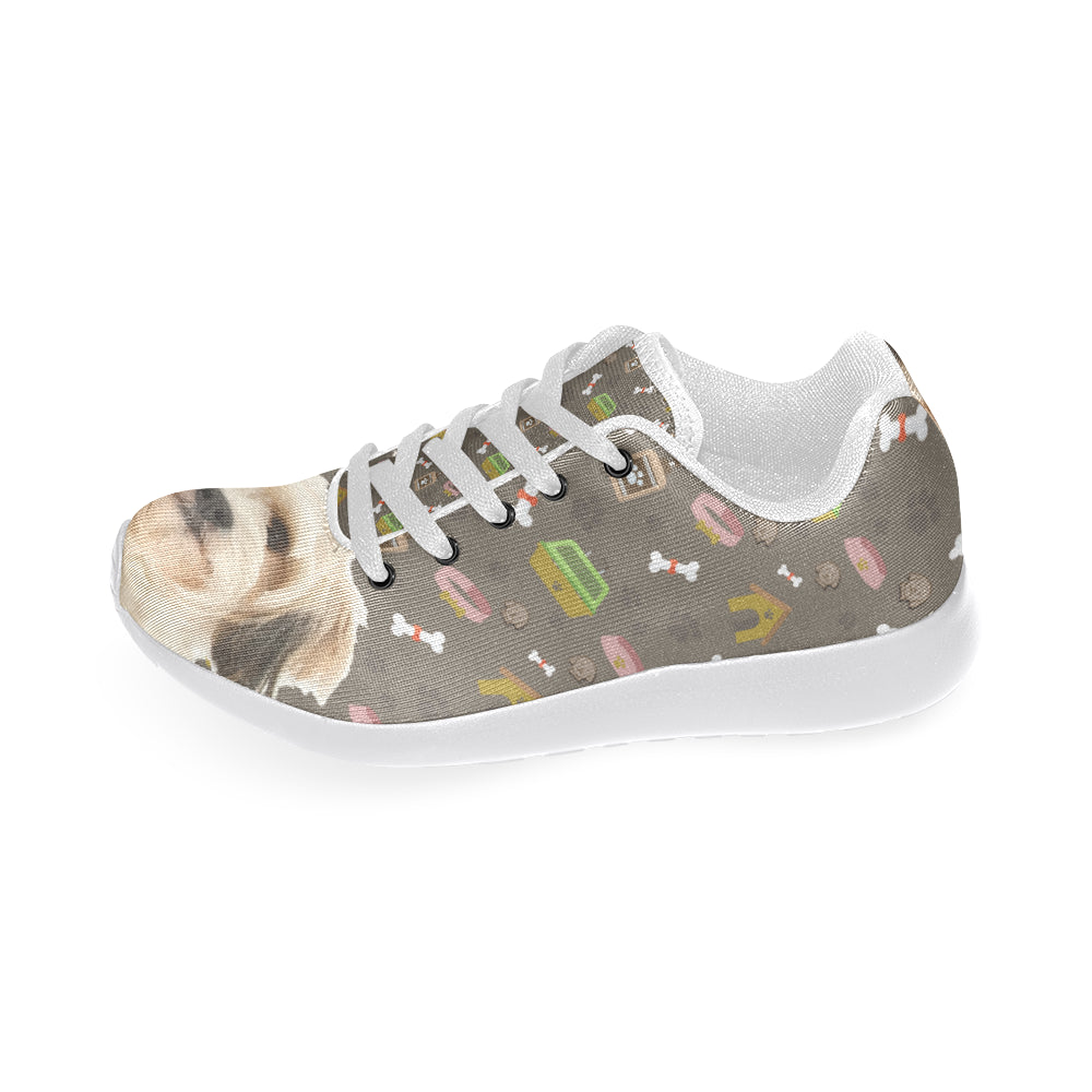 Cavachon Dog White Sneakers for Men - TeeAmazing