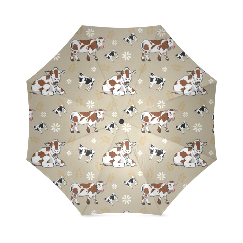 Cow Pattern Foldable Umbrella - TeeAmazing