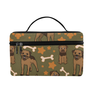 Border Terrier Pattern Cosmetic Bag/Large - TeeAmazing