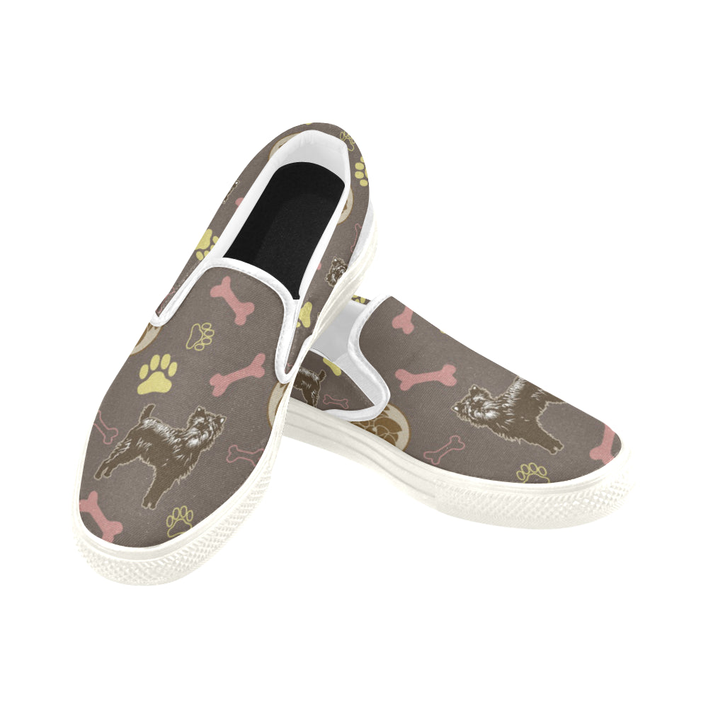 Affenpinschers Pattern White Women's Slip-on Canvas Shoes - TeeAmazing