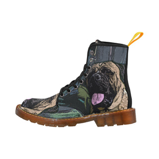 Bullmastiff Black Martin Boots For Women Model 1203H - TeeAmazing