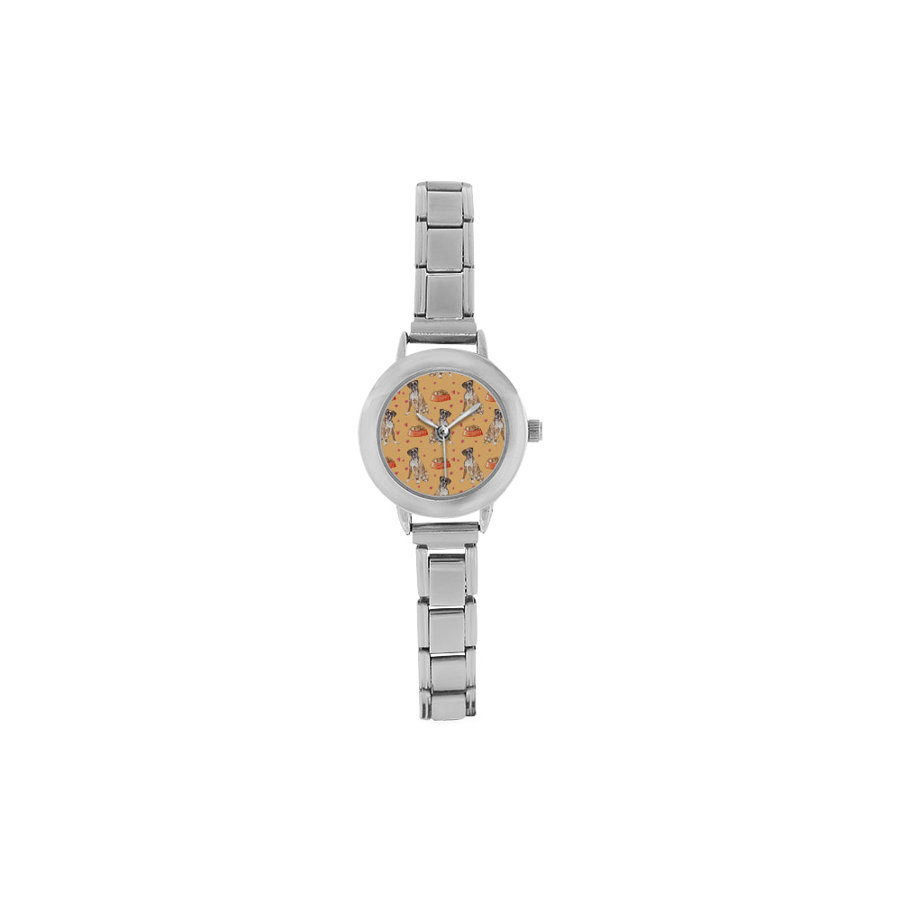 Boxer Water Colour Pattern No.1 Women's Italian Charm Watch - TeeAmazing
