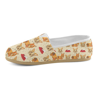 Corgi Pattern Women's Casual Shoes (Model 004) - TeeAmazing