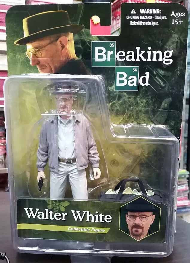 Breaking Bad Heisenberg Walter White Action Figures PVC brinquedos Collection Figures toys with Retail box 95681-b
