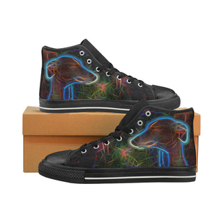 Italian Greyhound Glow Design 2 Black Men's Classic High Top Canvas Shoes - TeeAmazing