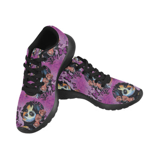 Sugar Skull Candy V1 Black Sneakers for Women - TeeAmazing