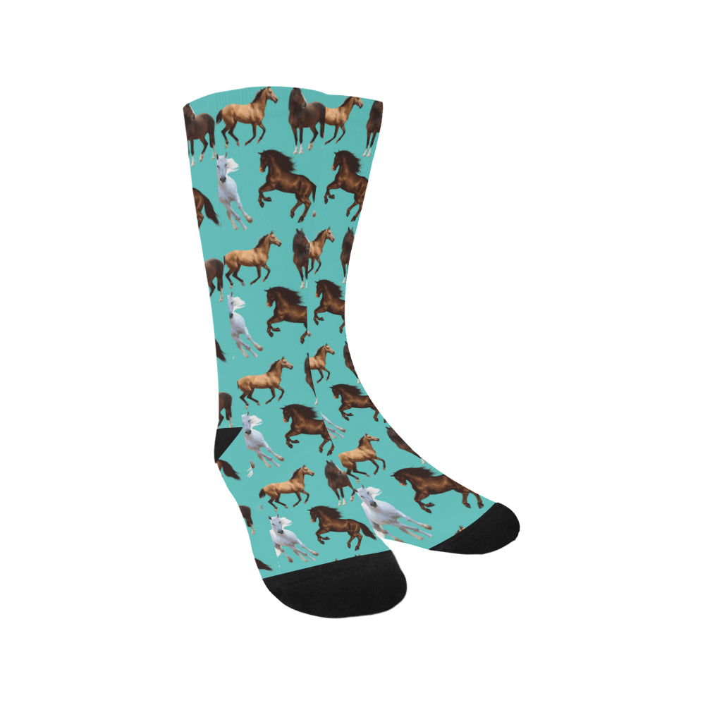 Horse Pattern Trouser Socks