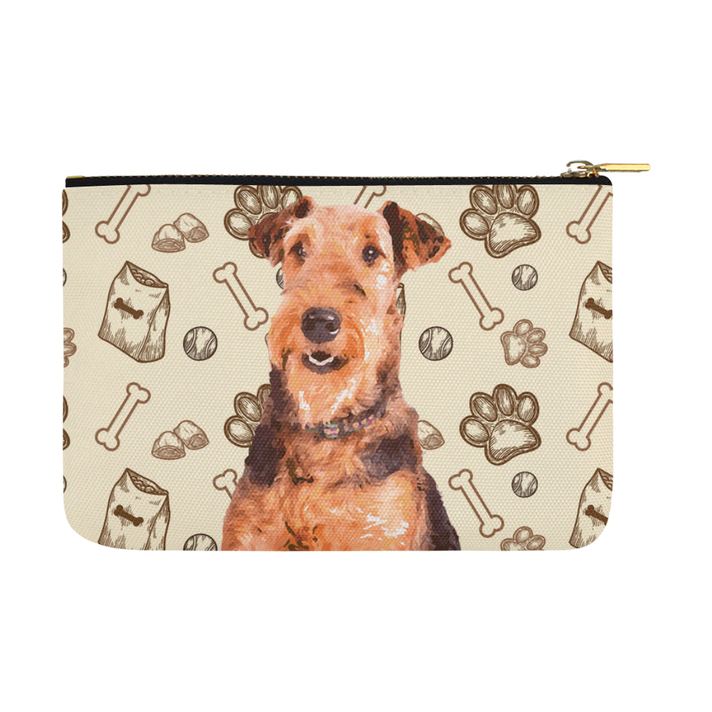 Airedale Terrier Carry-All Pouch 12.5x8.5 - TeeAmazing