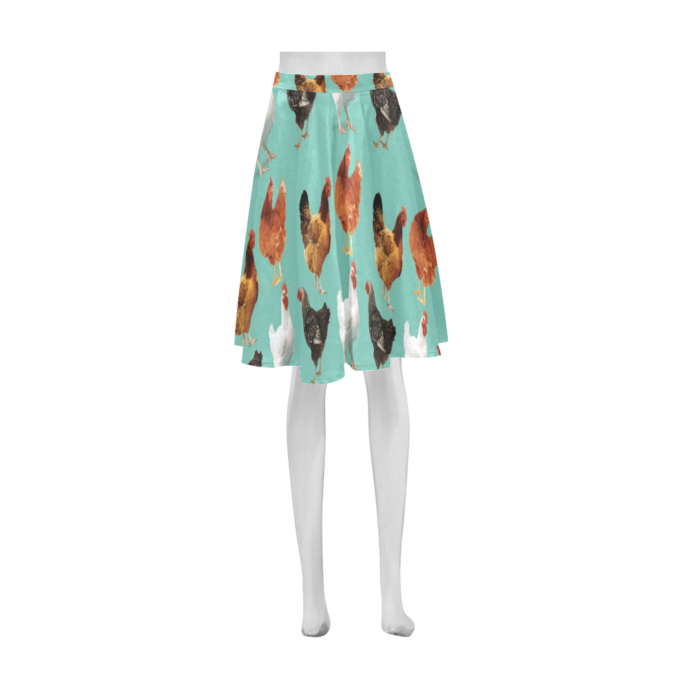 Chicken Pattern Athena Women's Short Skirt - TeeAmazing