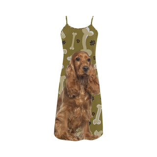 Cocker Spaniel Dog Alcestis Slip Dress - TeeAmazing