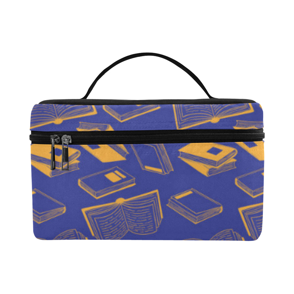 Book Pattern Cosmetic Bag/Large - TeeAmazing