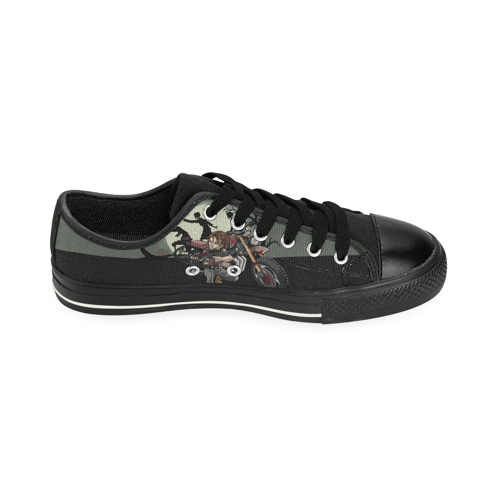36695801f6f7d5 ... Daryl Dixon Black Canvas Women s Shoes (Large Size) - TeeAmazing ...