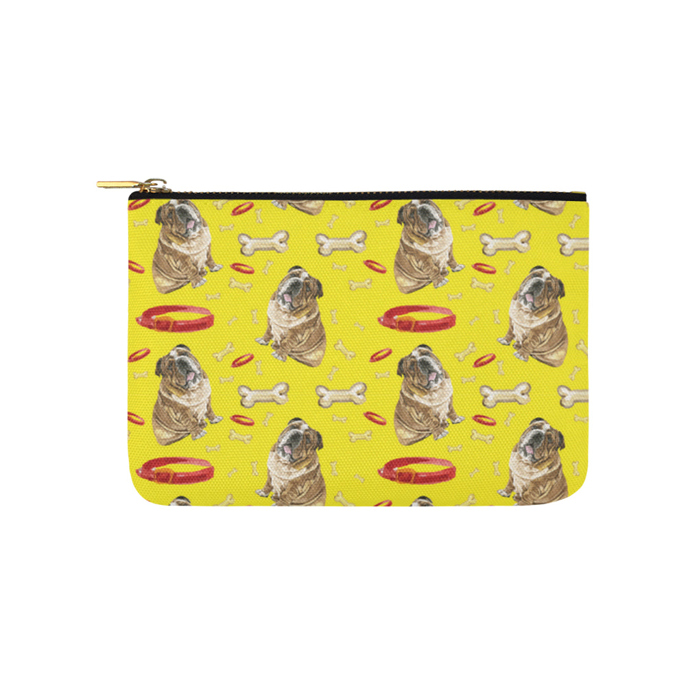 English Bulldog Water Colour Pattern No.2 Carry-All Pouch 9.5x6 - TeeAmazing