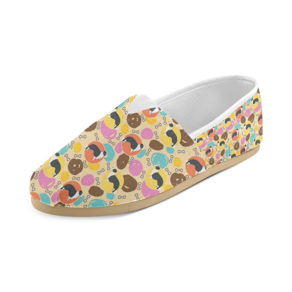 Border Collie Pattern Women's Casual Shoes - TeeAmazing