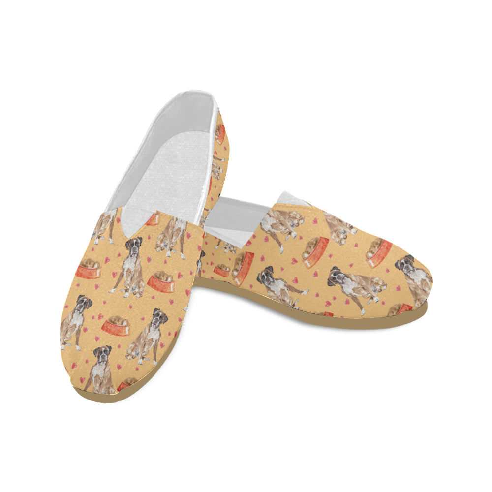 Boxer Water Colour Pattern No.1 Women's Casual Shoes - TeeAmazing