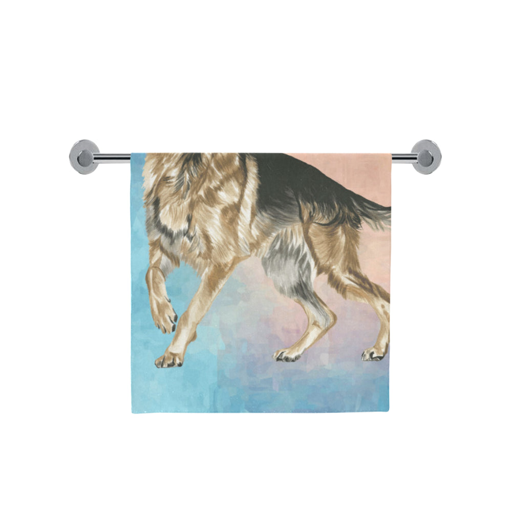 "German Shepherd Water Colour No.1 Bath Towel 30""x56"" - TeeAmazing"