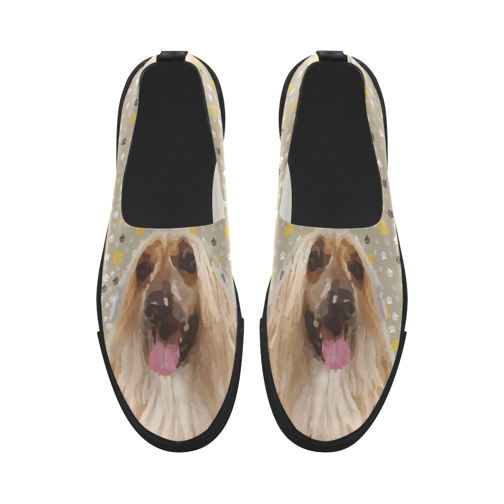 Afghan Hound Apus Slip-on Microfiber Women's Shoes - TeeAmazing