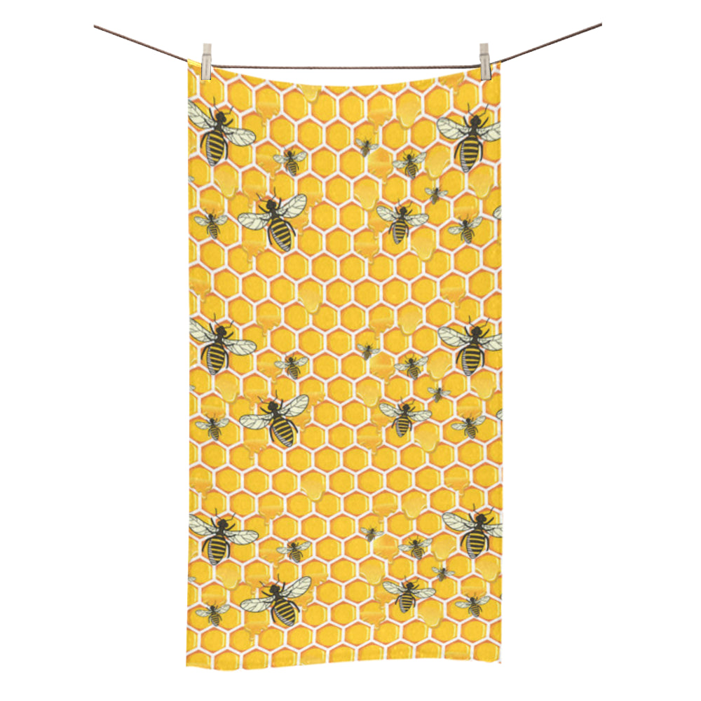 "Bee Bath Towel 30""x56"" - TeeAmazing"