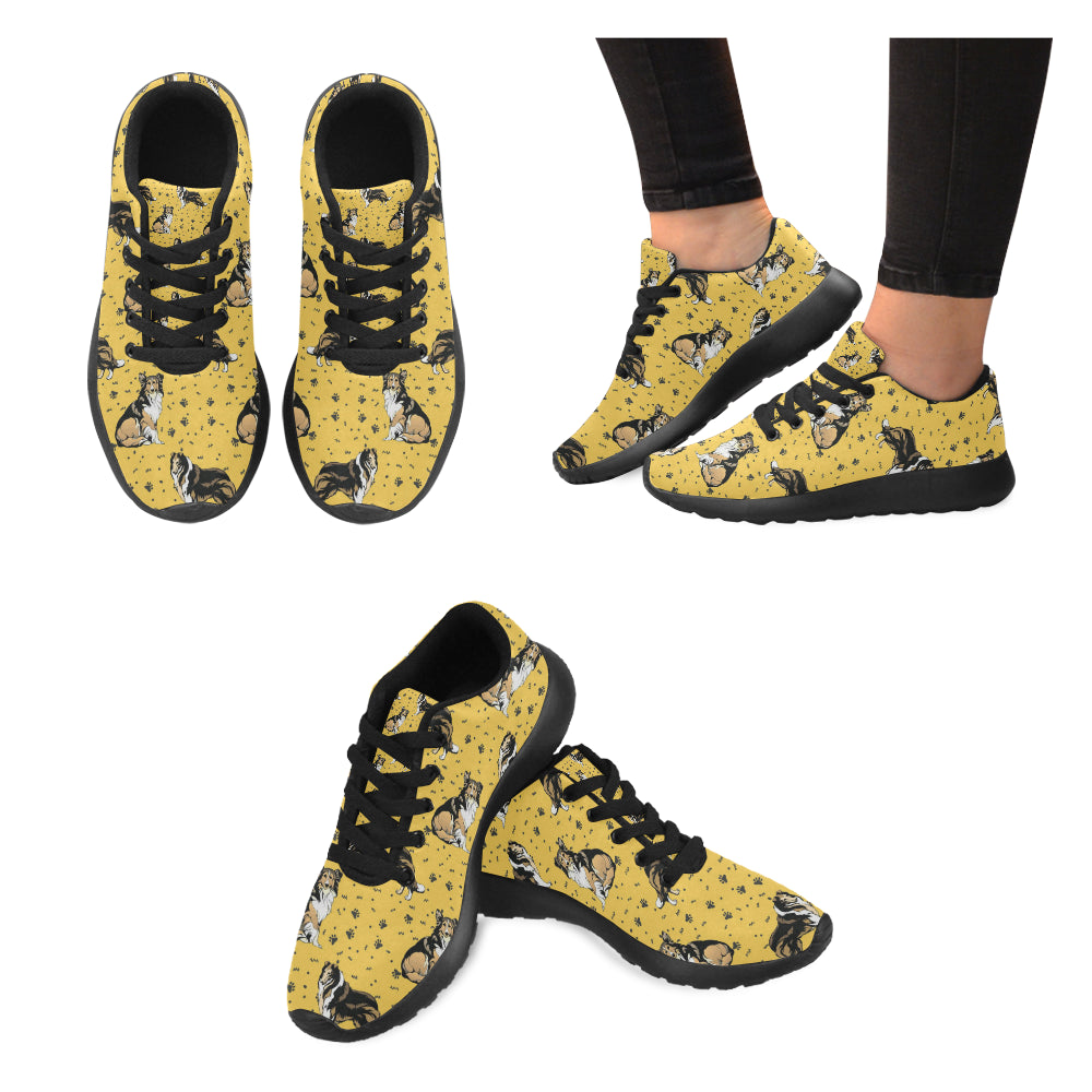 Collie Black Sneakers for Women - TeeAmazing