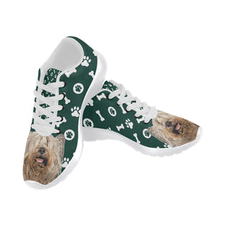 Skye Terrier White Sneakers for Women - TeeAmazing