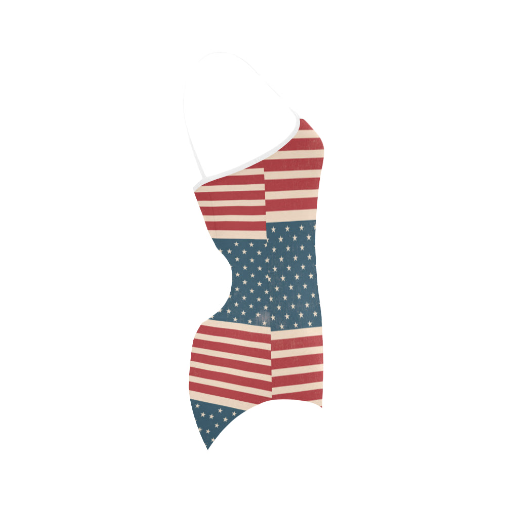 4th July V2 Strap Swimsuit - TeeAmazing