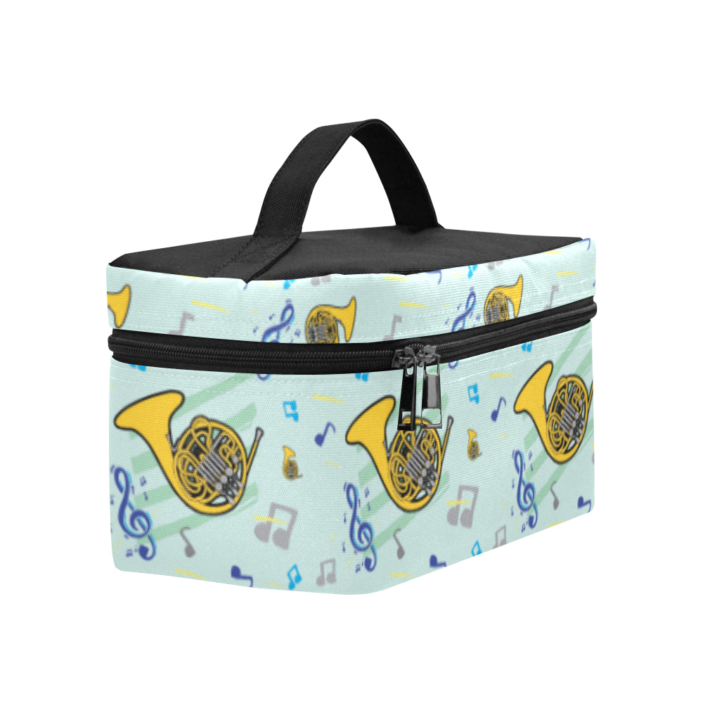 French Horn Pattern Cosmetic Bag/Large - TeeAmazing