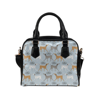 Italian Greyhound Pattern Shoulder Handbag - TeeAmazing