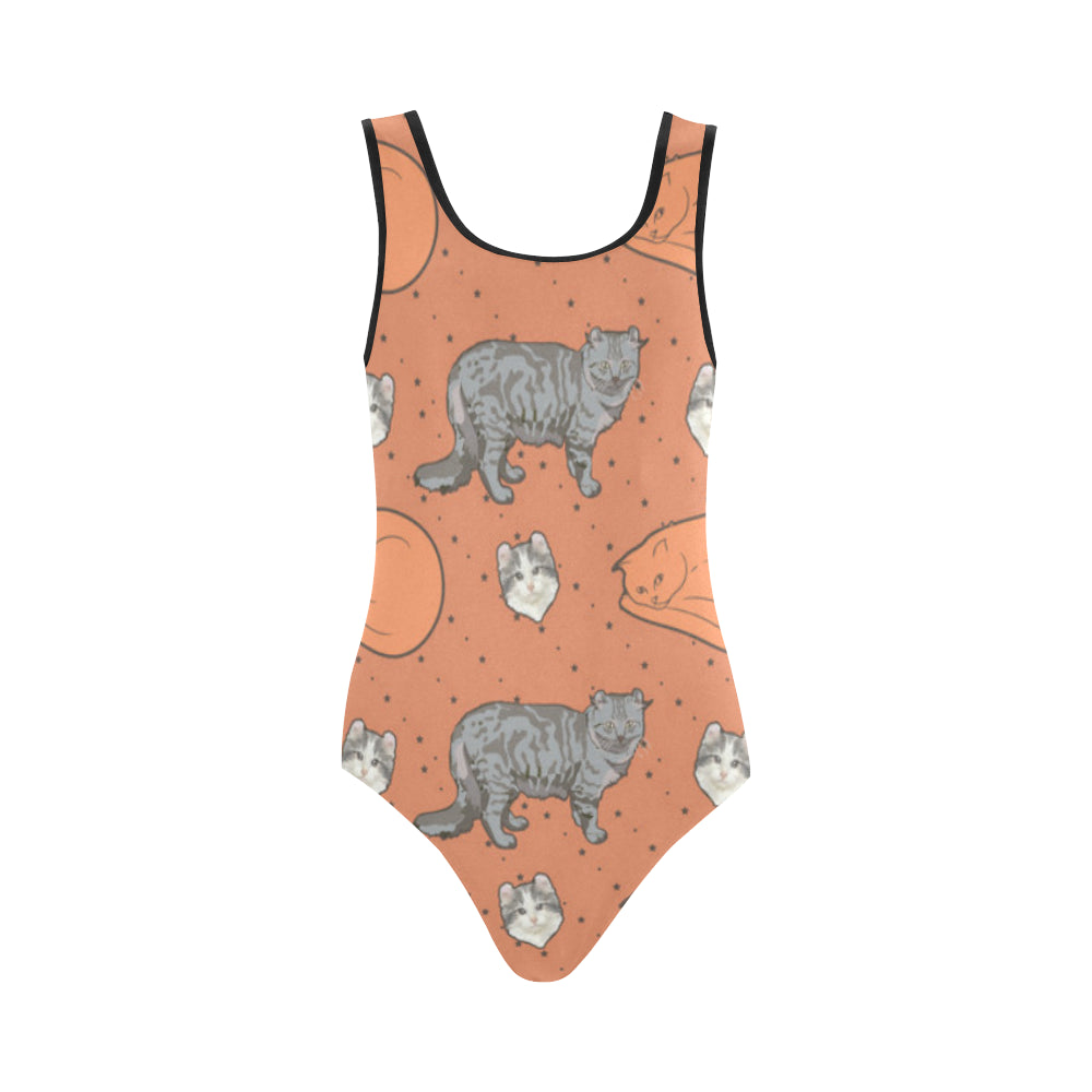 American Curl Vest One Piece Swimsuit - TeeAmazing