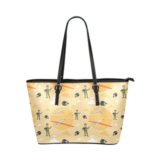 Pilot Pattern Leather Tote Bag/Small - TeeAmazing