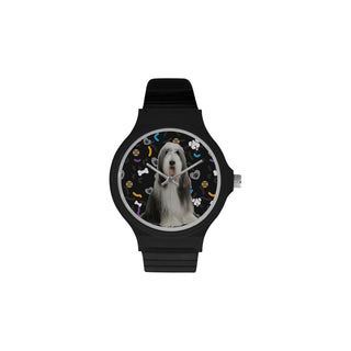 Bearded Collie Dog Unisex Round Plastic Watch - TeeAmazing