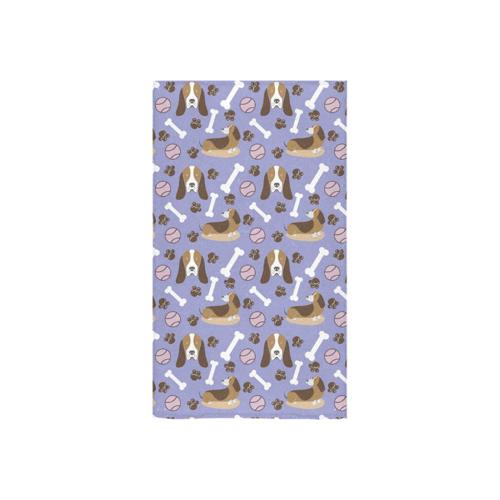 "Basset Hound Pattern Custom Towel 16""x28"" - TeeAmazing"
