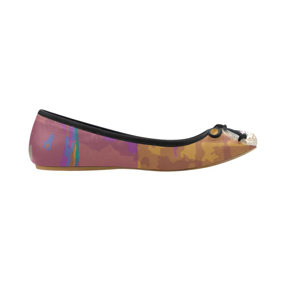 English Bulldog Water Colour No.2 Juno Ballet Pumps - TeeAmazing