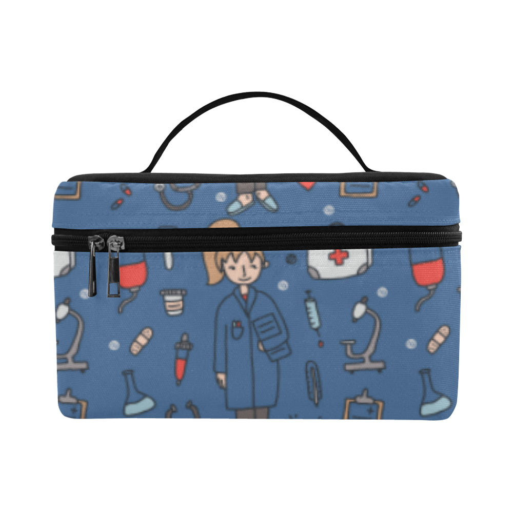 Pharmacist Pattern Cosmetic Bag/Large - TeeAmazing