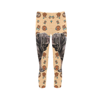 Neapolitan Mastiff Dog Capri Legging (Model L02) - TeeAmazing