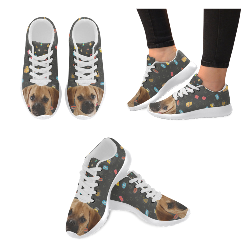 Puggle Dog White Sneakers for Men - TeeAmazing